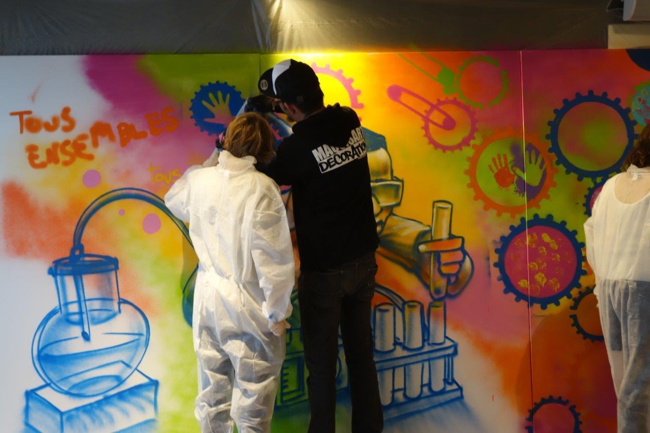 Teambuilding Graffiti chez Novartis